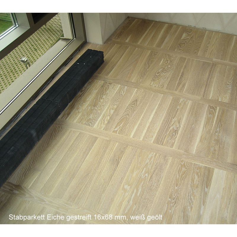 stabparkett eiche massiv 16x68x408 mm sortierung gestreift skand. Black Bedroom Furniture Sets. Home Design Ideas