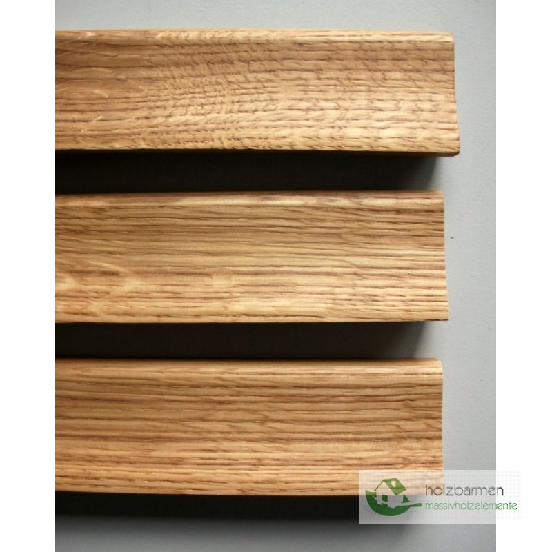 Solid wood skirting oak 20 x 52 mm curved profile for Wood skirting