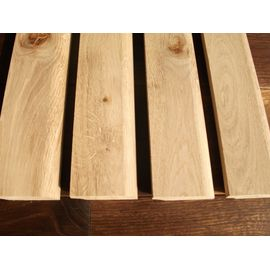 Solid Oak skirting, thickness 20 mm, profile with radius, Rustic grade, unfinished