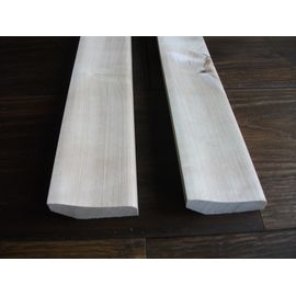 Solidwood skirtings, 20x52 mm, Curved profile, white painted