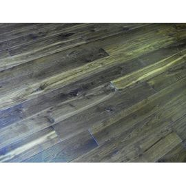 Extra wide boards, Smoked solid Oak flooring, 20x210 mm, Rustic grade, filled, pre-sanded and oiled