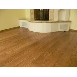 Solid Oak flooring, Rustic grade, 20x120 x 500-2400 mm, oiled in color Antique