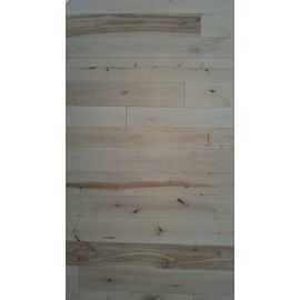 Solid Nordic Birch flooring, Rustic grade, 20x160 x 600-2800 mm, ready white oiled