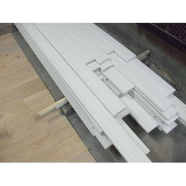 Solidwood skirtings,  thickness 20 mm, white painted, historical profile of Hamburg