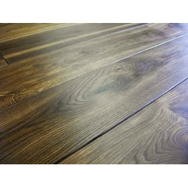 Solid Smoked Oak flooring, 20x120 mm, Nature grade, filled, pre-sanded and natural oiled