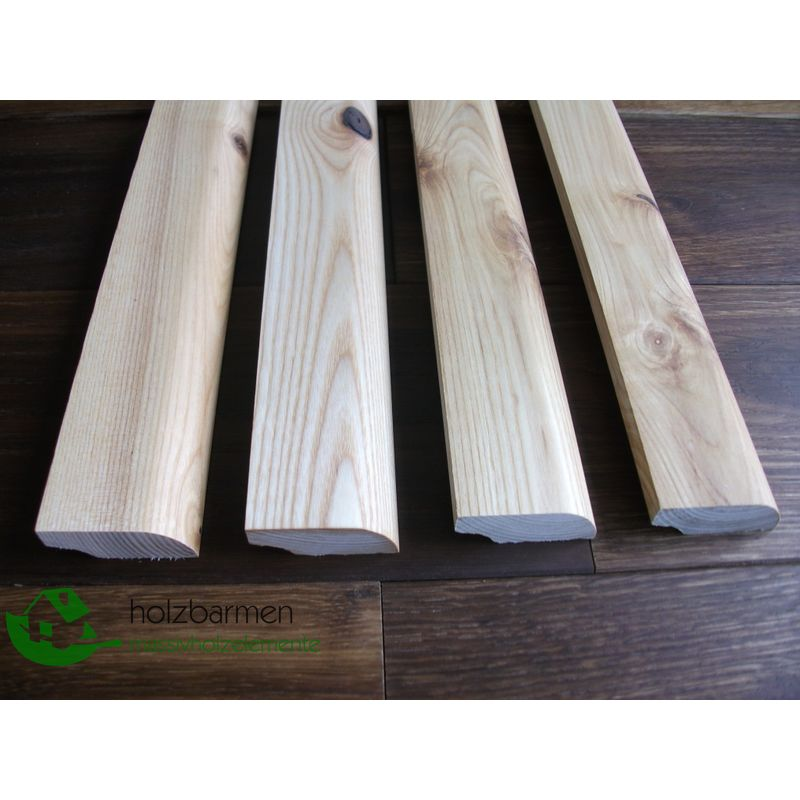 Solid Ash Skirting Boards 20x70 Mm Profile Radius Rustic