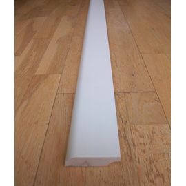 Solidwood skirtings, 15x100x2400 mm, profil with radius, white painted