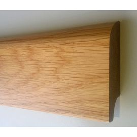 Solidwood Oak skirting board, 20x50 mm, profile with radius, Prime-Nature grade, lacquered