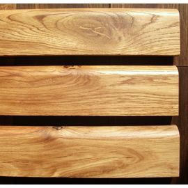 Solid Oak skirting, 20x50 mm, profile with radius, Rustic grade, natural oiled