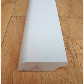 Solidwood skirtings, 20x130 mm, profile with radius, white painted